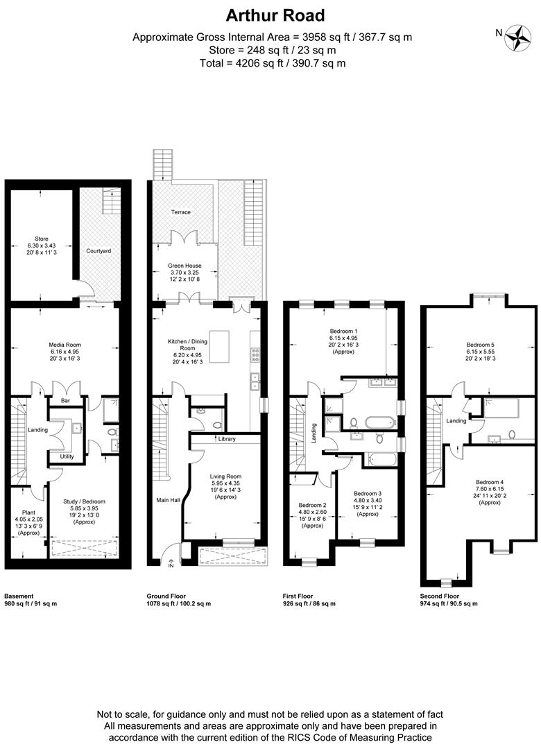 Floorplan for Arthur Road, Wimbledon